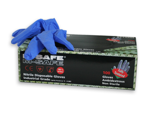 M-safe nitrile disposable gloves